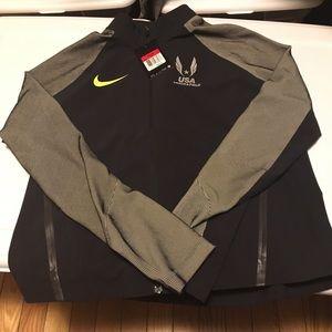 Nike Team USA Track & Field Top Black Silver
